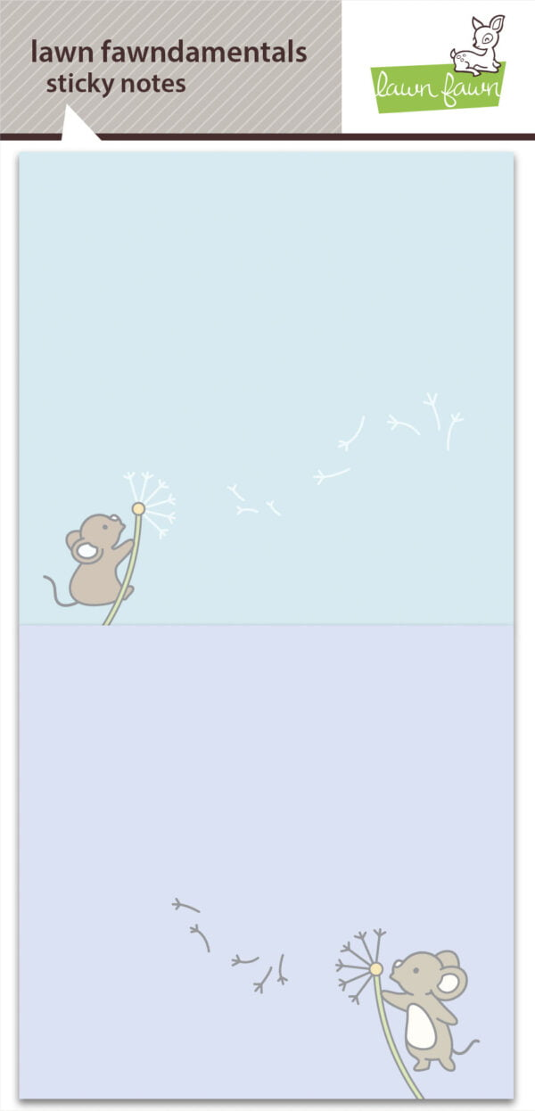lf2541 make a wish sticky notes lawn fawn