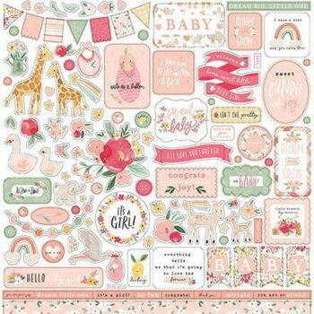 wbg233014 welcome baby girl element sticker
