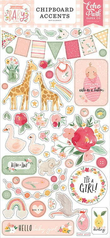 wbg233021 welcome baby girl chipboard accents