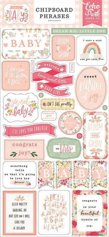 wbg233022 welcome baby girl chipboard phrases