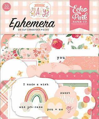 wbg233024 welcome baby girl ephemera front