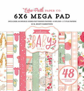 wbg233031 welcome baby girl cardmakers 6x6 mega pad