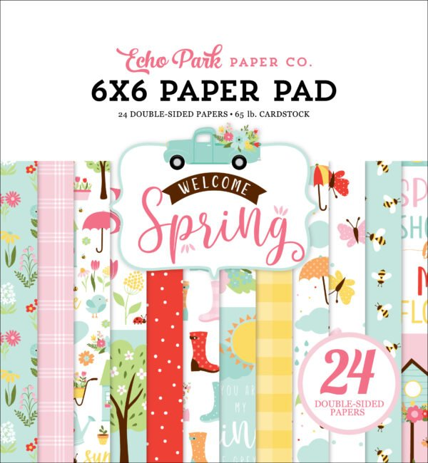 wes235023 welcome spring 6x6 paper pad