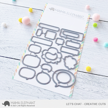 Mama Elephant Creative Cuts - Let's Chat