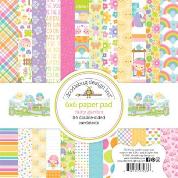 doodlebug design fairy garden 6x6 inch paper pad 7