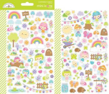 doodlebug design fairy garden mini icons sticker 7