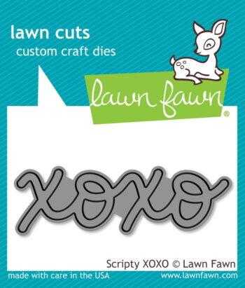 lf1029 Lawn Fawn scripty xoxo
