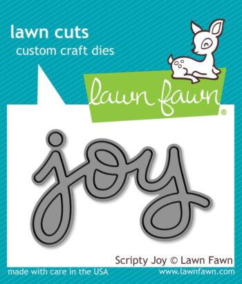 lf774 Lawn Fawn scripty joy