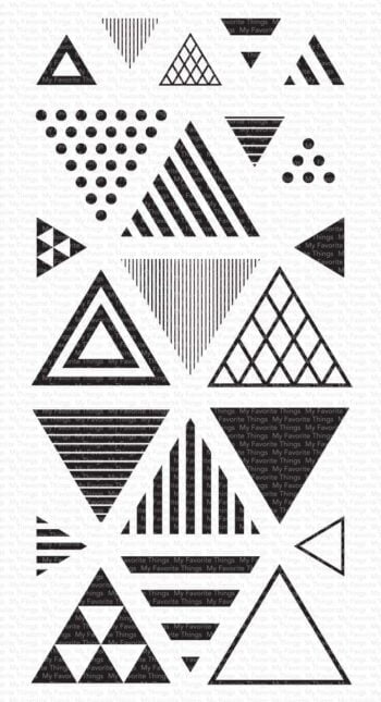 my favorite things trendy triangles clear stamps c