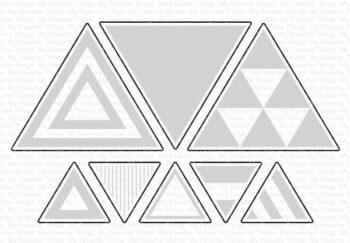 my favorite things trendy triangles die namics mft