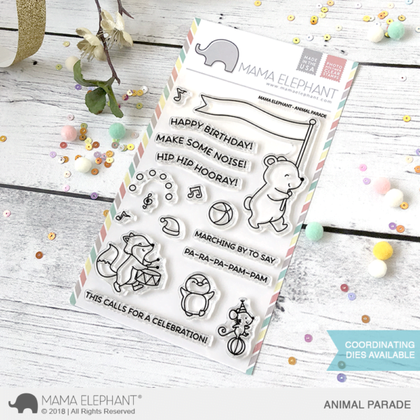 Mama Elephant Clear Stamps Animal Parade