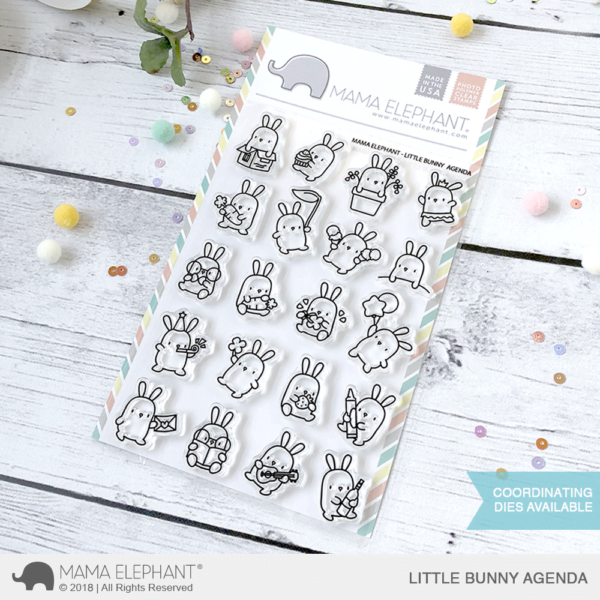 Mama Elephant Clear Stamps little bunny agenda