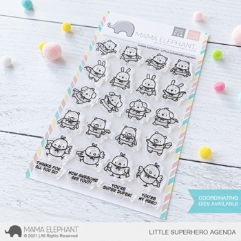 Mama Elephant Clear Stamps - Little Superhero Agenda