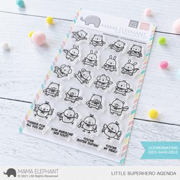 Mama Elephant Clear Stamps - Little Superhero Agenda