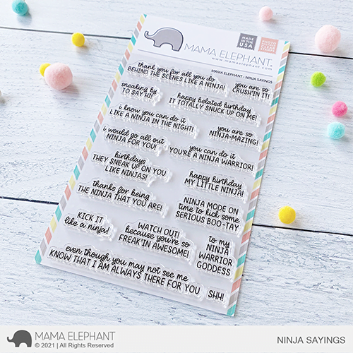 Mama Elephant Clear Stamps - Ninja Sayings