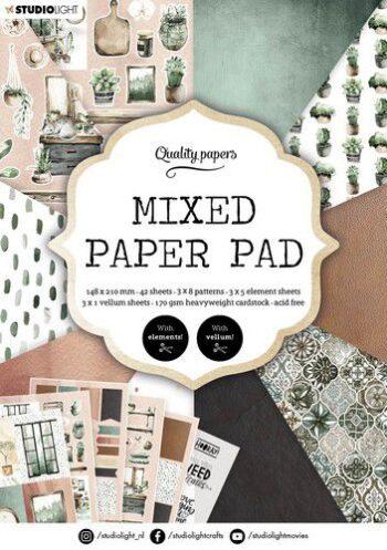 studio light mixed paper pad pattern paper essentials nr 157 a5mp 319355 nl g