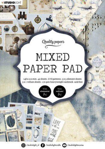 studio light mixed paper pad pattern paper essentials nr 162 a5