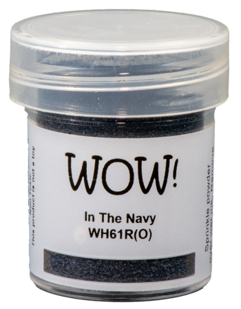 WOW Embossing Powder wh161r in the navy
