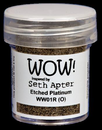 WOW Embossing Poeder ww01r etched platinum seth apter
