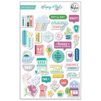 PinkFresh Studio Keeping It Real Puffy Stickers