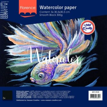 "2911 9125 Florence Black Watercolor Paper 12"""
