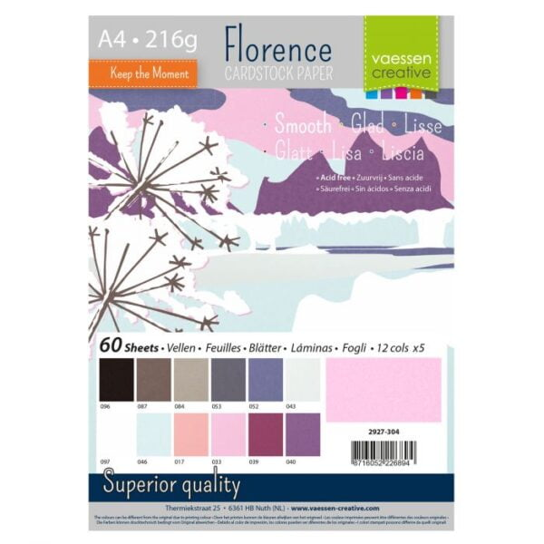 2927 304 Florence Winter Cardstock A4