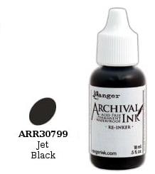 Ranger Archival Inker Jet Black arr30799