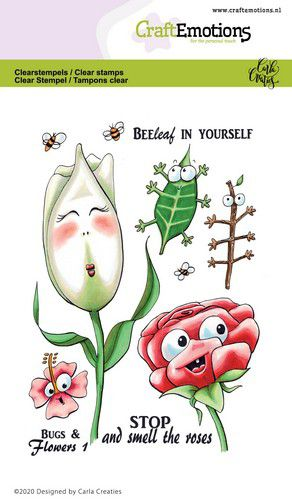 craftemotions clearstamps a6 bugs flowers 1 carla creaties 0 320025 nl g