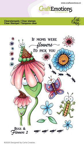craftemotions clearstamps a6 bugs flowers 2 carla creaties 0 320026 nl g