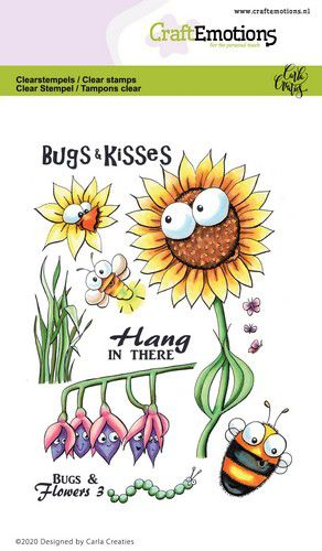 craftemotions clearstamps a6 bugs flowers 3 carla creaties 0 320027 nl g