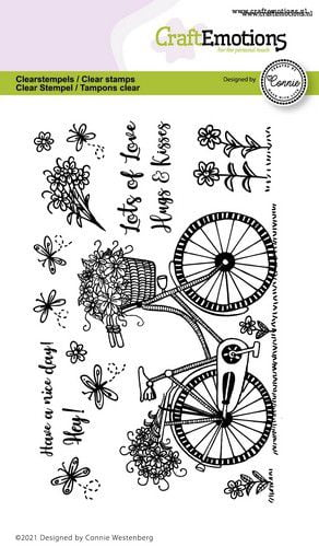 craftemotions clearstamps a6 fiets have a nice day connie wes 320118 nl g
