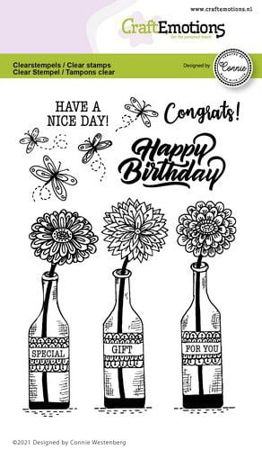 craftemotions clearstamps a6 flessen special gift for you con 320117 nl g