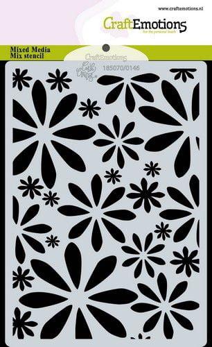 craftemotions mask stencil bugs flowers bloemen a6 carla crea 320031 nl g