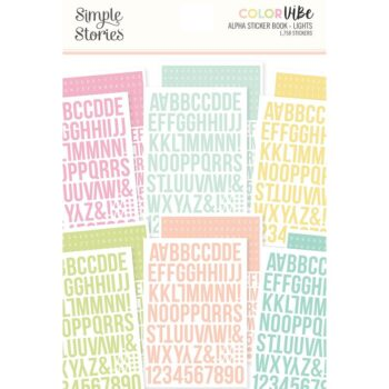 simple stories color vibe alpha sticker books lights