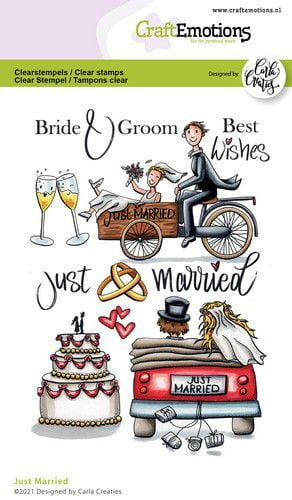 craftemotions clearstamps a6 just married eng carla creaties 320385 nl g