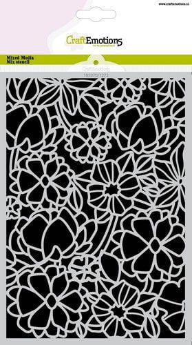 craftemotions mask stencil bloemenmix a5 a5 05 21 320496 nl g