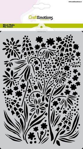 craftemotions mask stencil summer flowers a5 a5 gb 05 21 320498 nl g