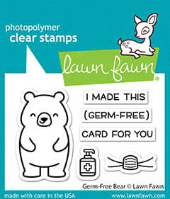 lf2462 lawn fawn clear stamps germ free bear sml