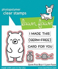 lf2463 lawn fawn creative cuts dies germ free bear 2 sml