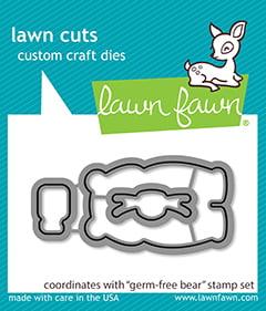 lf2463 lawn fawn creative cuts dies germ free bear sml