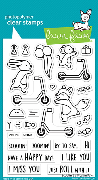 lf2554 lawn fawn clear stamps scootin by sml