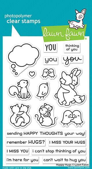 lf2556 lawn fawn clear stamps happy hugs sml