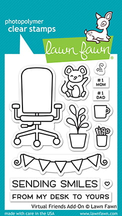 lf2558 lawn fawn clear stamps virtual friends addon sml