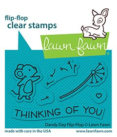 lf2562 lawn fawn clear stamps dandy day flipflop sml