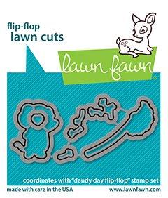 lf2563 lawn fawn creative cuts dies dandy day flipflop sml