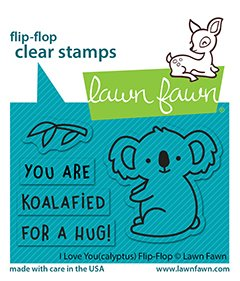 lf2564 lawn fawn clear stamps i love you calyptus flipflop sml