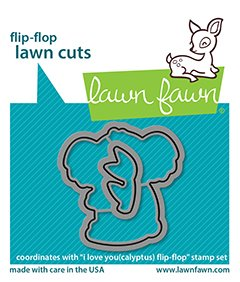 lf2565 lawn fawn creative cuts dies i love you calyptus flipflop sml