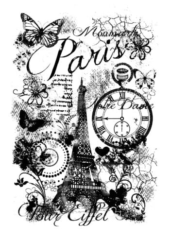 woodware paris collage clear magic singles stamp frs638 6075 p