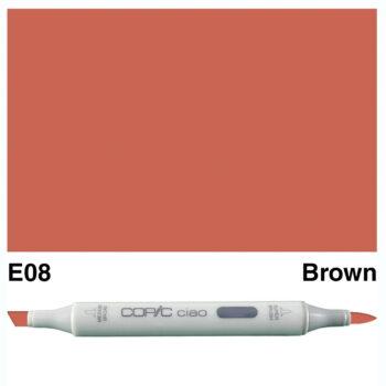 0018107 copic ciao e08 brown 47462.1584539904