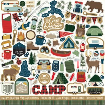 echo park lets go camping 12x12 inch collection ki 2